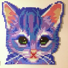 Cat perler beads by villal8: