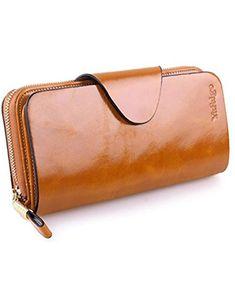 Large Luxury Women S Rfid Blocking Tri Fold Leather Wallet Zipper Las Clutch Purse Casual Bags
