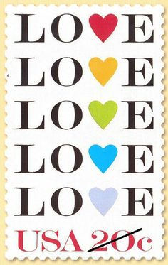 Love US postage stamp, 1984 Commemorative Stamps, Going Postal, Postage Stamp Art, Envelope Art, Love Stamps, Rainbow Heart, Vintage Stamps, Stamp Collecting, Love Letters
