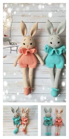 Educational and interesting ideas about amigurumi, crochet tutorials are here. Crochet Rabbit Free Pattern, Easter Crochet Patterns, Crochet Amigurumi Free Patterns, Crochet Doll Pattern, Crochet Crafts, Crochet Dolls, Crochet Projects, Easter Toys, Easter Bunny