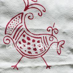 Asciugamano in cotone, dettaglio del disegno