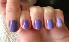 Purple ombre nails How to:  Gradually add white to your choice of nail polish :)