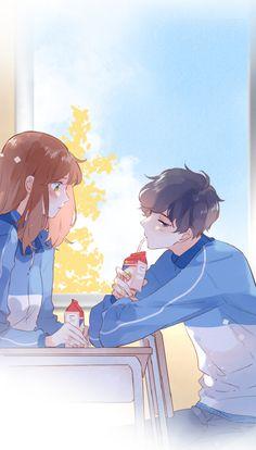 Cute Couple Art, Anime Love Couple, Cool Anime Girl, Kawaii Anime Girl, Anime Neko, Manga Anime, Cute Anime Coupes, Cute Love Wallpapers, Anime Stars