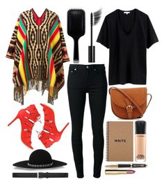"""""""Untitled #4776"""" by prettyorchid22 ❤ liked on Polyvore featuring Dsquared2, BLK DNM, Rebecca Minkoff, Yves Saint Laurent, MAC Cosmetics, Parker, H&M, GHD and Chanel"""