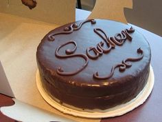 ... cake with apricot filling, drenched with a rich chocolate ganache