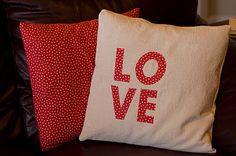DIY Valentine's Day Pillows and Valentine Decor Ideas!