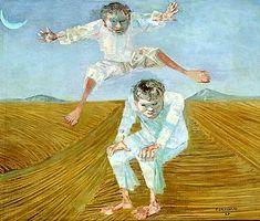 Portinari, meninos pulando carniça, 1957