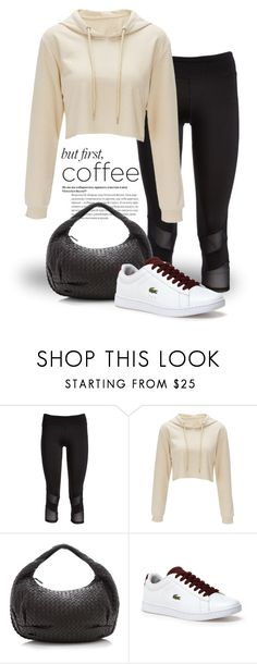 """""""Caffeine Fix: Coffee Break 4084"""" by boxthoughts ❤ liked on Polyvore featuring Electric Yoga, Bottega Veneta, Lacoste and coffeebreak"""
