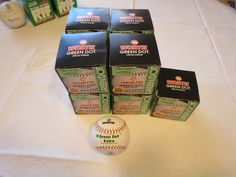 Lot of 9 softballs Worth Green Dot Official Softball PX11RLA women girls 11 in #Worth