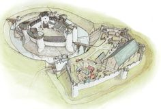 White Castle Reconstruction Wales 1400 AD
