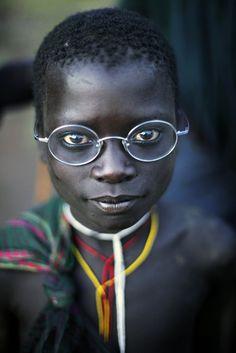 'Suri & my glasses', © photograph by Makis Siderakis / Location: Ethopia