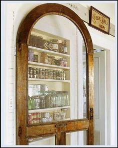 A salvaged screen door is reused as a pantry door - Reinventing a Victorian Home - Victorian Home House Tour - Country Living Screen Door Pantry, Victorian Homes, Door Inspiration, Pantry Door, Pantry Closet, Old Doors, Doors, Vintage Screen Doors, Old Barn Doors