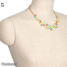 Colorful Flower Gold Necklace $17 + worldwide shipping #summer #spring #accessory #fashion #jewelry