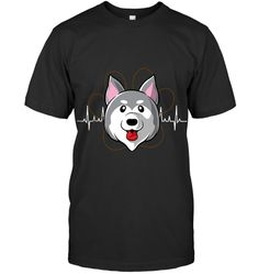 Husky Heartbeat T Shirt Husky Guy, In A Heartbeat, Prints, Mens Tops, T Shirt, Supreme T Shirt, Tee Shirt, Tee