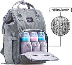 Best Diaper Backpacks : KiddyCare Diaper Bag Backpack - Multi-Function Waterproof Maternity Nappy Bags for Travel with Baby - Large Capacity, Durable and Stylish, Gray : Baby Best Diaper Backpack, Buy Backpack, Backpack Straps, Baby Diaper Bags, Nappy Bags, Baby Changing Bags, Changing Pad, Backpack Reviews, Hospital Bag