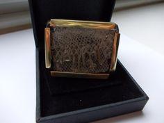 Brooch- resin, snakeskin & by Jasmina Tsvetkova Snake Skin, Resin, Brass, Brooch, Brooch Pin, Copper