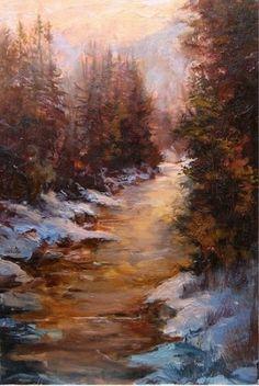 """""""Backcountry-Near Snowmass"""" by Scott Mattlin Oil ~ 30 x 19"""