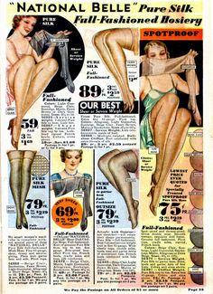 >The Vintage Baroness has been posting some really wonderful stocking inspiration lately, as well as addressing the common questions about whether or not they wore fishnets or seamless stockings…
