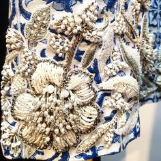 Grecian & Beaded: incredible crystal work on the Creatures of the Wind #SS15 runway #SwarovskiCollective #NYFW #CoTW