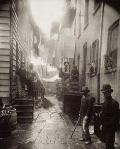 De gevaarlijkste straat in New York City in 1888 (toen criminelen nog hoeden droegen)