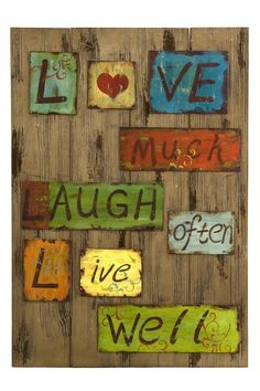 Live Laugh Love Tin and Wood Decor by Decorate and Organize in Style on