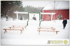 Inn at Pleasant Lake Winter Wedding