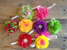 tutorial for super easy no sew flowers for headbands