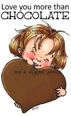 Chocolate Heart (Digital Pencil Too)