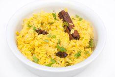 vegansk indisk ris oppskrift Risotto, Grains, Vegan Recipes, Rice, Ethnic Recipes, Asia, Food, Cilantro, Vegane Rezepte