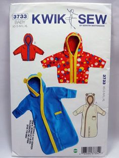 Kwik Sew 3733, Baby Bunting and Jacket Pattern, Sewing Pattern, Size XS to XL (Newborn to 18 months), New, Unopened by Allyssecondattic on Etsy