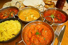 Photo about Selection of indian food with pilau rice, naan bread, poppadoms and samosas a popular choice for eating out in european countries. Image of asia, dining, asian - 33587691 Garam Masala, Pollo Tikka Masala, Chana Masala, Naan, Indian Food Recipes, Healthy Recipes, Ethnic Recipes, Curry Recipes, Healthy Foods