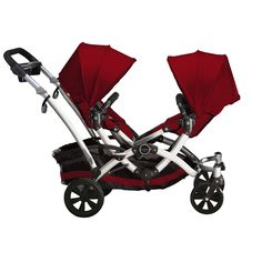 Kolcraft Contours double stroller. Test drove this with a friend today, if I ever needed a double stroller this would be it!!! 6 different seat positions, and easy fold!