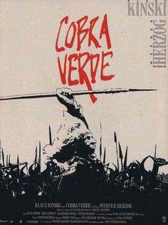 Cobra Verde Directed by Werner Herzog Starring Klaus Kinski Movie Posters For Sale, Film Posters, Love Movie, I Movie, Werner Herzog, Free Films, Cobra, Cinema Film, I Scream