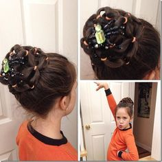 I'm a Christian wife & homeschooling mom of I'm passionate about helping girls feel good about themselves through cute hairstyles! Little Girl Hairstyles, Bun Hairstyles, Halloween Hairstyles, Natural Hair Styles, Long Hair Styles, Creative Hairstyles, Shiny Hair, Crazy Hair, Hair Dos