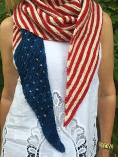 Ravelry: Protest is Patriotic Shawl pattern by nycraft craftivist Shawl Patterns, Knitting Patterns Free, Free Knitting, Free Pattern, Knitting Club, Knitted Shawls, Crochet Scarves, Knit Crochet, Crocheted Scarf