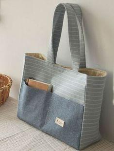 Denim Handbag Tote bag with r