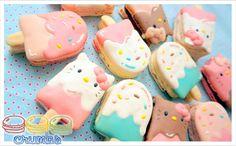 Hello Kitty Ice Cream Macarons by Crumbs