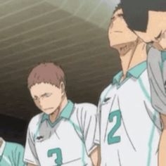 IMPORTANT. Hanamaki's holding back his tears, but the moment he gives Matsukawa a side glance and sees his chest jump with held back sobs, ...