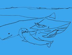 A rejected sketch #wip #drawing #illustration #illustrator #sea #whales #seal #penguins #blue #tatsurokiuchi #process #sketch #rough #イラストレーション #イラスト #木内達朗 #japan