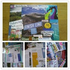 A vision board is a really great way to reinforce the goals and outcomes you wish for yourself for any period of time.  They can take any shape, but most are done on poster boards or canvases and can include scraps from magazines, photos, newspapers, or just about anything! - Ayesha Akhtar #visionboard #settinggoals #visualizing