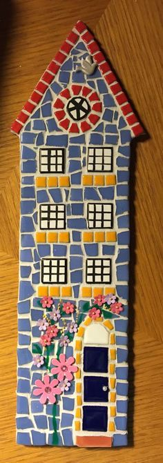 Handmade Mosaic House New Home Gift