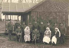 Nurses and CAMC personnel. Image from the Trent University Archives: Nursing Sister Helen L. Fowlds: A Canadian Nurse in World War I Exhibit. History Of Nursing, Vintage Nurse, The Old Days, World War One, Medical Care, Wwi, Old Things, Sisters, Nurses