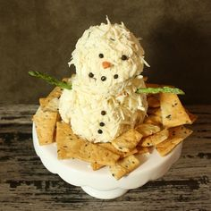 This week on #minichefmondays we are featuring our favorite holiday appetizer - a snowman cheeseball! {link in bio}
