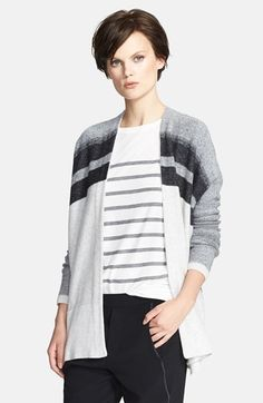 Vince Variegated Oversized Wool & Cashmere Cardigan available at #Nordstrom