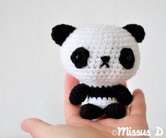 Panda Amigurumi Crochet PATTERN by missusD on Etsy. €3,00, via Etsy.
