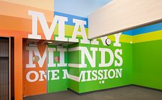 "Pentagram designs environmental graphics for a school named ""Achievement First Endeavor Middle School"" #MustBeACharter"