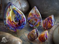 Rainbow Borostone Stone Plugs if only they came in my size:(