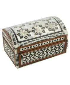 Egyptian Mother of Pearl Inlay Keepsake Box, Small
