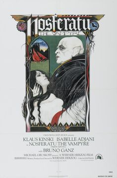 The Herzog version of Nosferatu starring Klaus Kinski and Isabelle Adjani. I love the film, I love the poster art