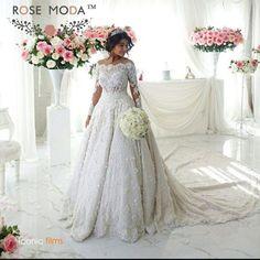 New Long sleeve White/Ivory lace Bridal Gown Wedding Dress Train Custom Size